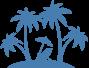 Icon Eiland Palmbomen en Stoel